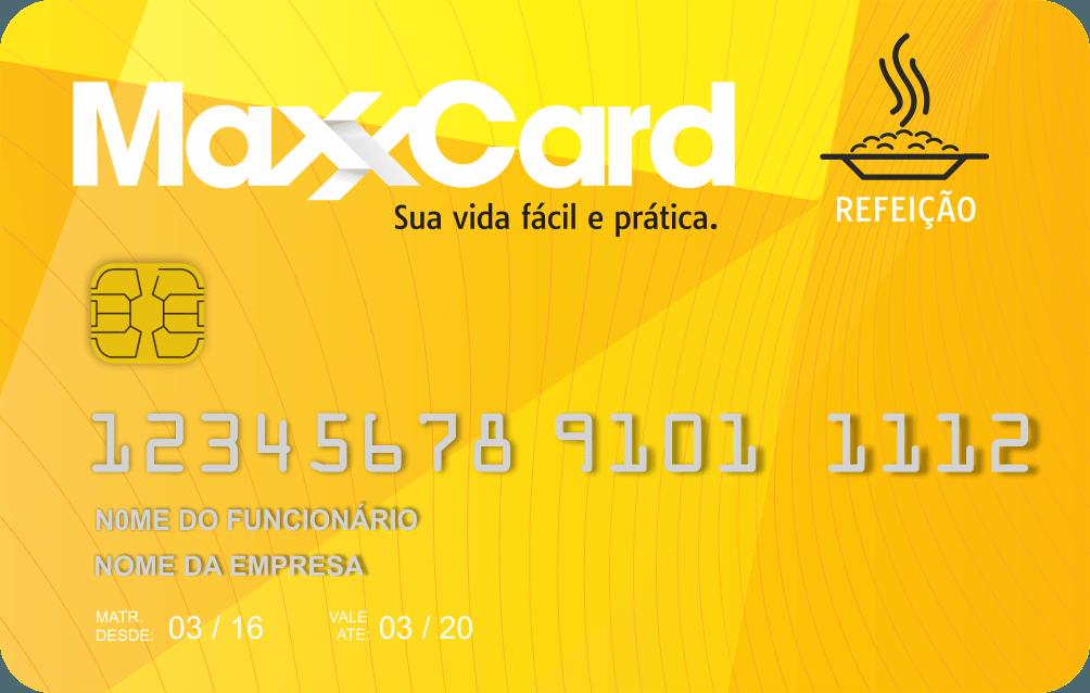 maxxcard cartão - refeição maxxcard
